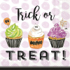 Trick or Treat Cupcakes Beverage Napkins