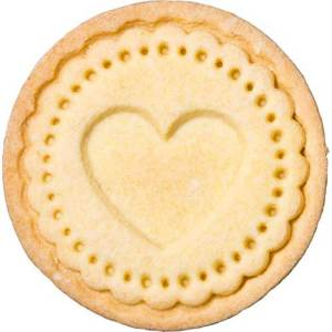 Scalloped Heart Cookie Stamp