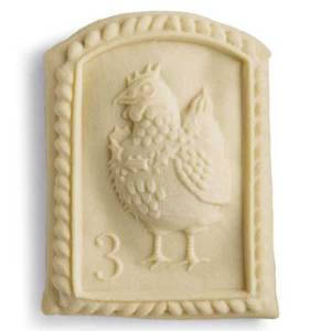 3rd Day of Christmas French Hen Cookie Mold