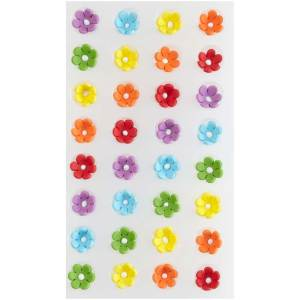 Mini Rainbow Daisies Royal Icing Decorations