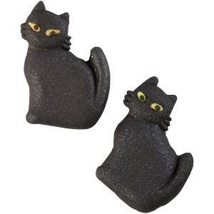 Shimmer Black Cat Icing Decorations