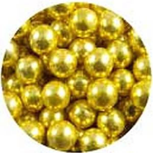 8mm Dragees Gold, 4 oz jar