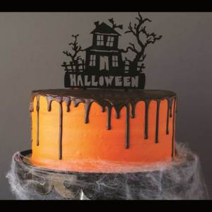 Haunted House Acrylic Cake Topper