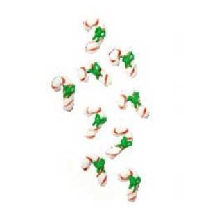 Mini Candy Cane Icing Decorations