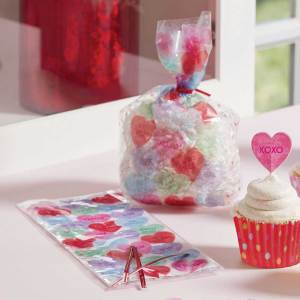 SALE!!  Candy Hearts Cello Treat Bag
