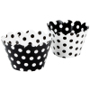 Black & White Reversible Cupcake Wrappers
