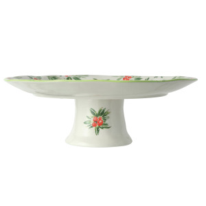 Cake Pedestal with Holly Berries