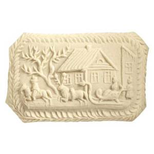 Winter Sleigh Scene Cookie Mold