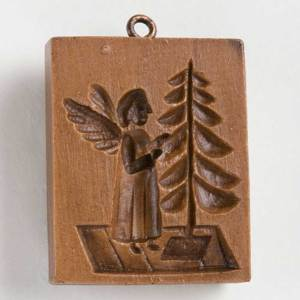 Angel and Tree Cookie Mold