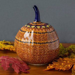 SALE!  Jack O' Lantern Pumpkin - Polish Pottery