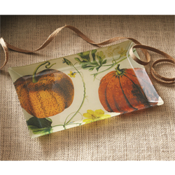 Harvest Pumpkin Patch Glass Plate