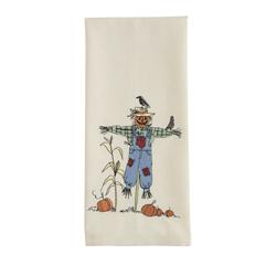 SALE!  Scarecrow Applique Dishtowel