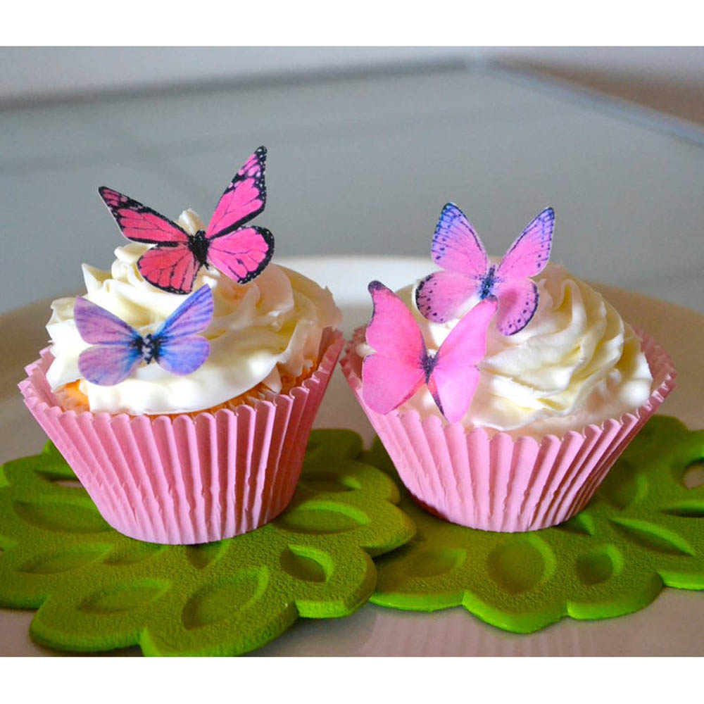 Small Pink & Purple Butterflies Wafer Paper