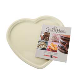 SALE!  Heart Cookie & Pizza Pan with Recipe  Book - Nordic W