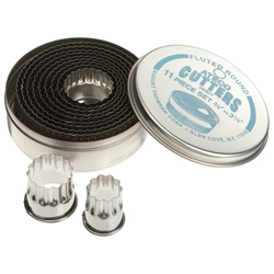 LTD QTY!  Round Cookie Cutter Set, Fluted Edge