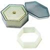 Cookie Cutter Hexagon Set of 9, Plain Edge