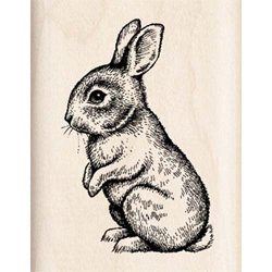 Baby Bunny Rubber Stamp