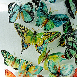 Butterflies Green Hues Wafer Paper
