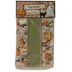 Vintage Halloween Paper Chain Garland Kit