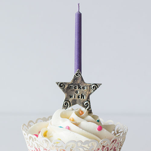 Birthday Wish Pewter Candle Holder Tap To Expand