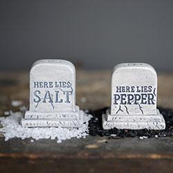SOS! Tombstone Salt & Pepper Shakers