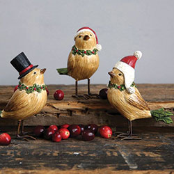 Holiday Bird Figurines