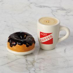 SALE!  Coffee & Donut Salt & Pepper