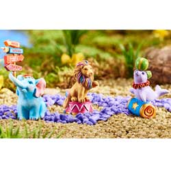 Mini Carnival Animal Decoration Set