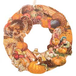 Vintage Happy Thanksgiving Wreath