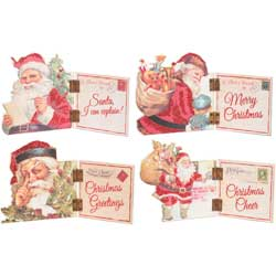 SALE!  Vintage Santa Mini Hinged Sitters