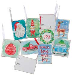 SALE!  Christmas Gift Tag Ornaments