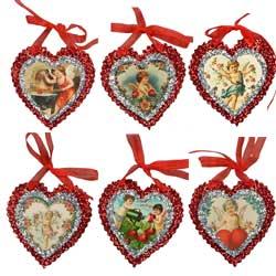 SOS! Vintage Valentine Mini Glitter Ornaments