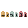 Easter Wooden Silhouette Eggs, Set of 6