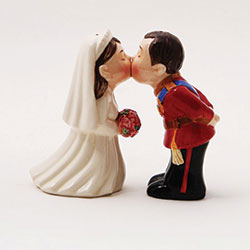 SALE!  Royal Bride & Groom Salt & Pepper