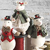 Country Mice Ornament Set - Green