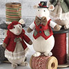 Country Mice Ornament Set - Red