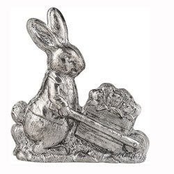 SALE!  Pewter Bunny Decoration