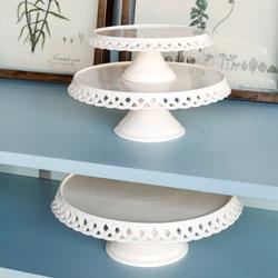 Lattice Work Ceramic Cake Plates