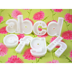 Helvetica Style INDIVIDUAL LETTER Cookie Cutte