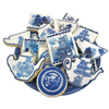 RETIRING!  Blue Willow Edible Wafer Paper