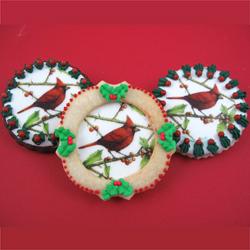 Christmas Cardinals Wafer Paper