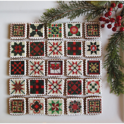 Christmas Quilt Blocks Wafer Paper