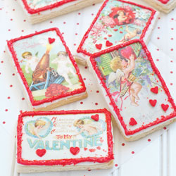 Mini Cupid Vintage Postcards Wafer paper