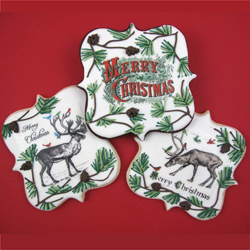 RETIRING  Vintage Christmas Illustrations Wafer Paper