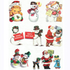 Holiday Retro Christmas Cards Wafer Paper