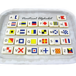Nautical Flag Alphabet Wafer Paper, Set of 52 Images