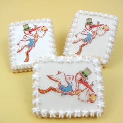 Special Delivery Stork Wafer Paper