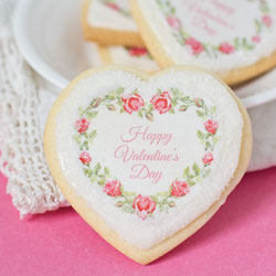 Happy Valentine's Day Wreath Wafer Paper