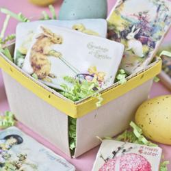 Easter Vintage Mini Postcards  Wafer Paper, 24 Images