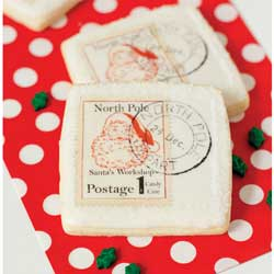North Pole Postage Stamp Wafer Paper